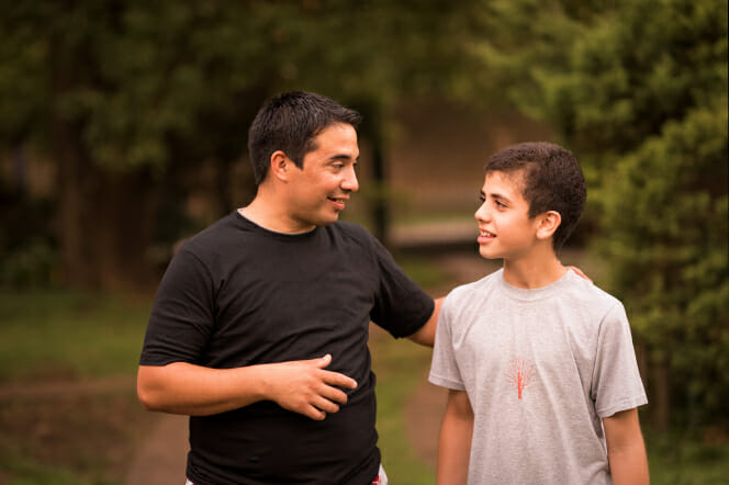 Father to Talking Teenage Son