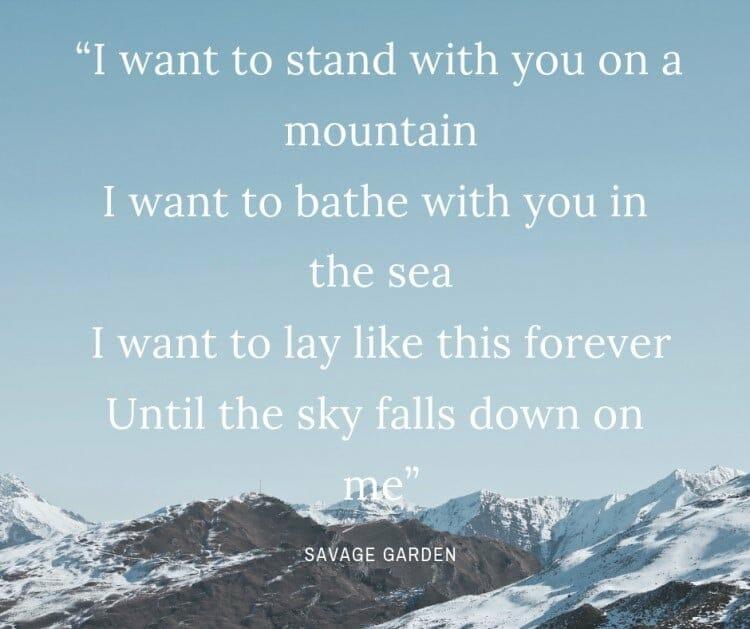 Savage Garden quote