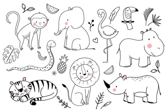 Cute drawings of animals