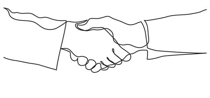 Draw a handshake