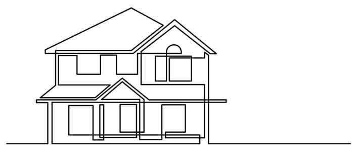 Line drawn house