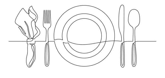 Plate knife fork