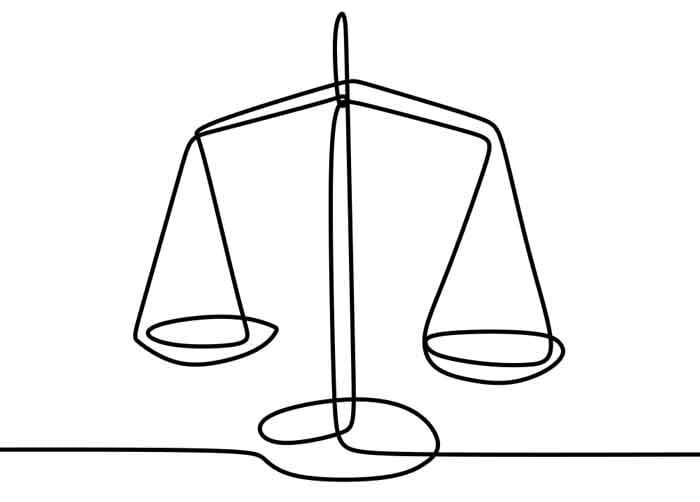 Weight balance symbol