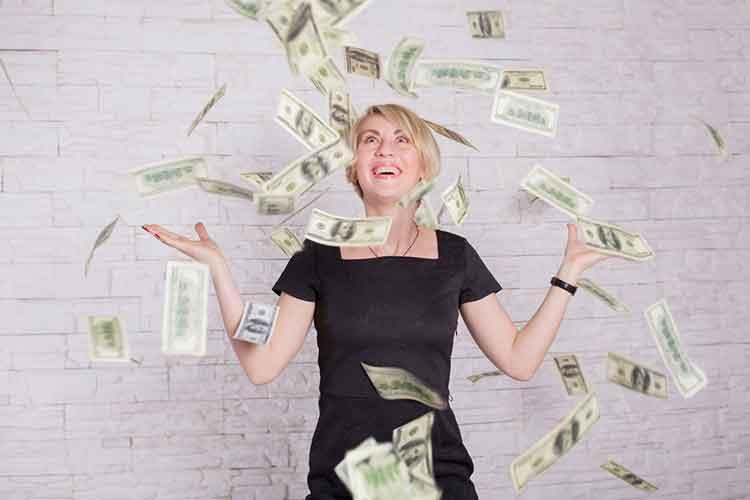 Woman won a lottery