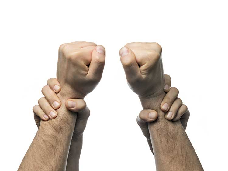 Fist holding