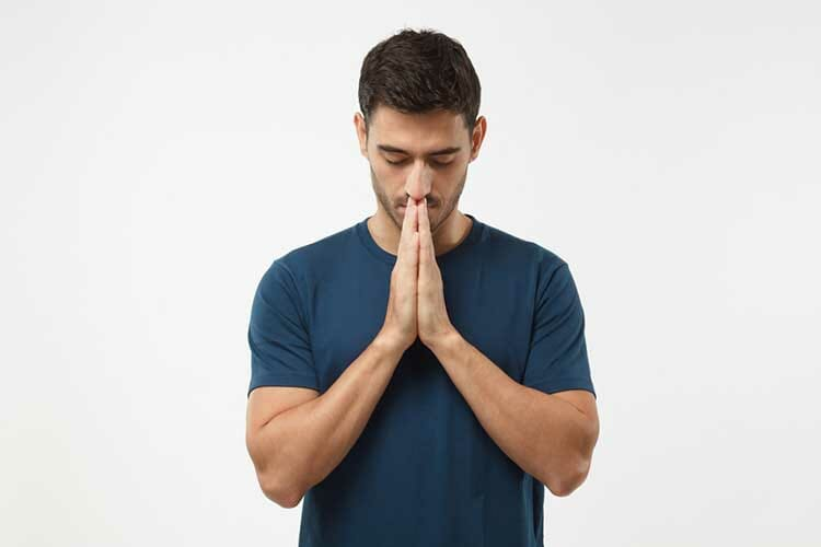 guy praying