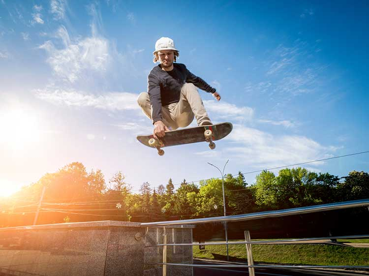 guy skateboarding