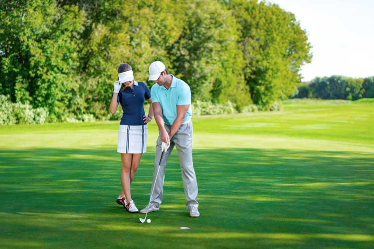 first date at a golf course