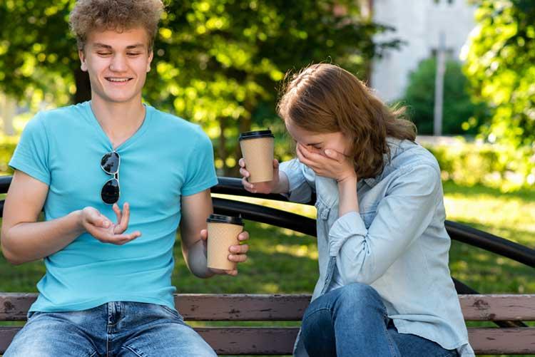 Guy telling a joke