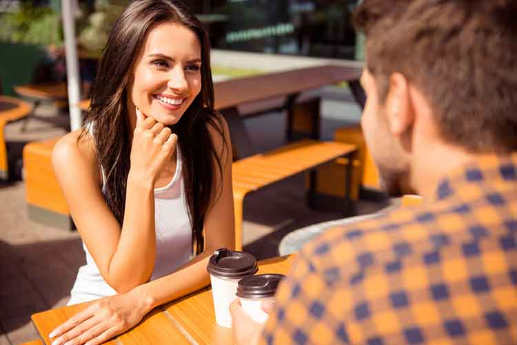 couple having long conversation