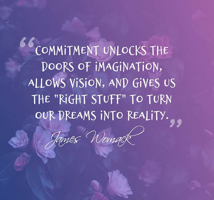 Commitment unlocks the doors of