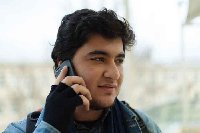 Guy making a phone call