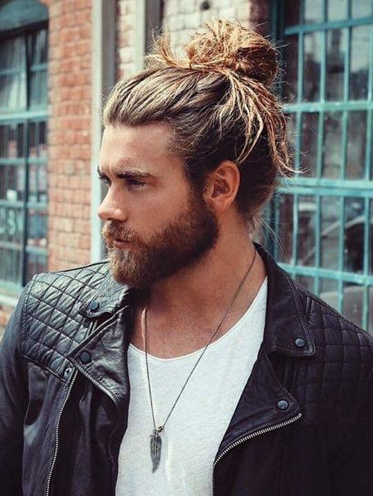 full man bun hair